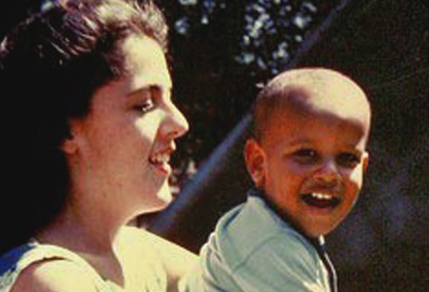 Obama with his Mother