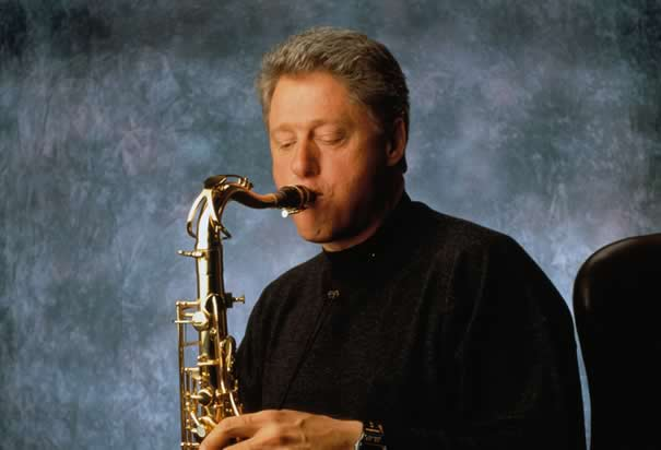 Clinton Playing His Saxophone