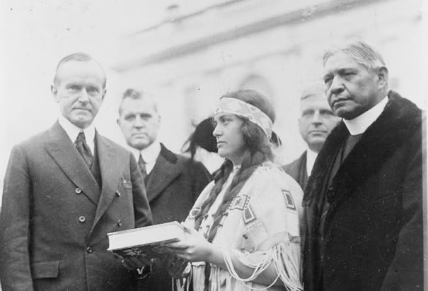 Coolidge meets with Cherokees