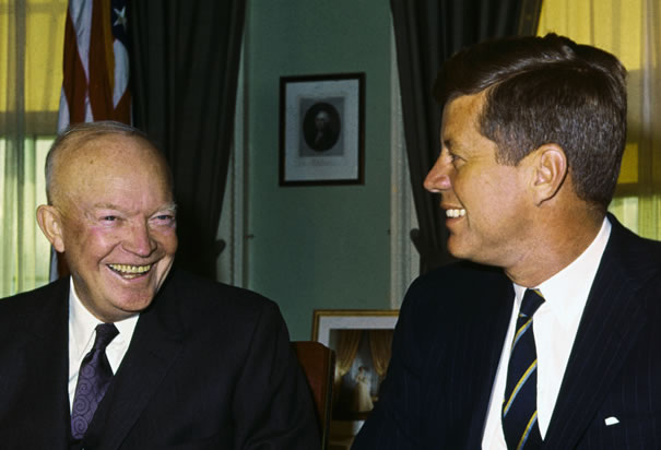 Presidents Eisenhower and Kennedy