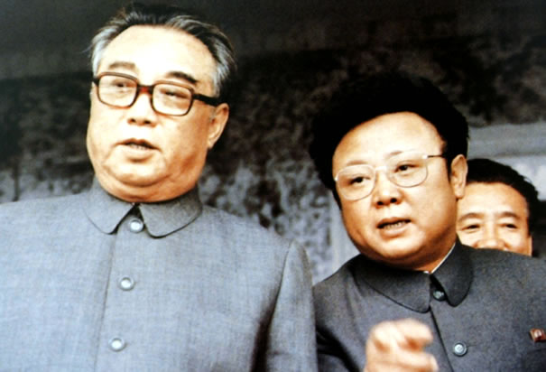 Kim Il-Sung  and Kim Jong-Il