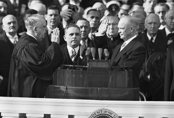 Eisenhower Sworn in as President