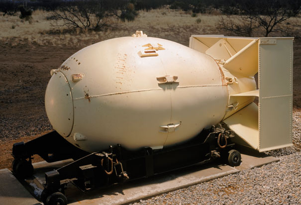 Replica of Fat Man Atomic Bomb
