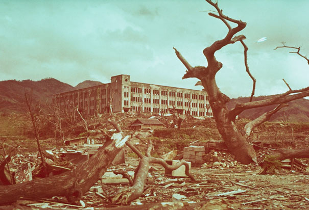 Damaged School in Nagasaki