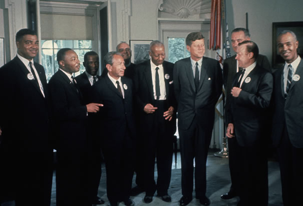 Kennedy with Civil Rights leaders