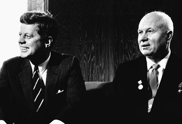 Kennedy with Khrushchev