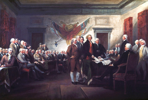 declaration of independence signing. Signing of the Declaration of