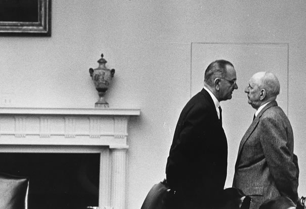 LBJ has a talk with Richard Russell