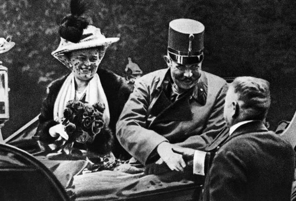 Archduke Franz Ferdinand and his wife, Sophia